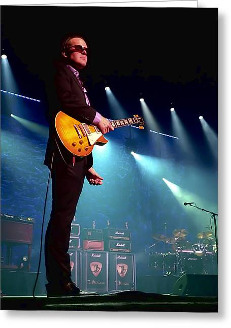 Electric Greeting Cards - Joe Bonamassa 2 Greeting Card by Peter Chilelli