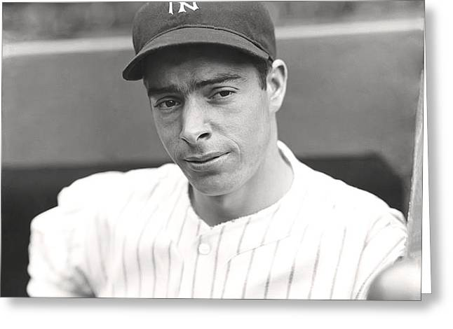 Joe Dimaggio Hand On Hip Greeting Card by Retro Images Archive