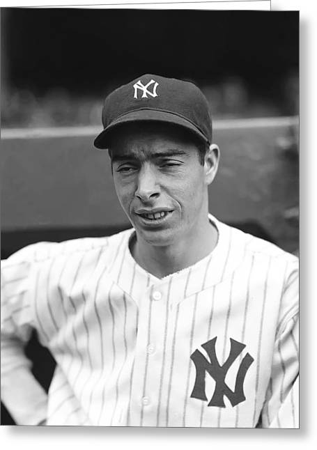 Joe Dimaggio Vintage Photo Greeting Cards - Joe Dimaggio Looking Down Greeting Card by Retro Images Archive