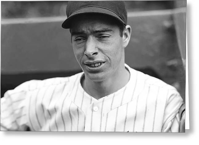 Joe Dimaggio Looking Down Greeting Card by Retro Images Archive