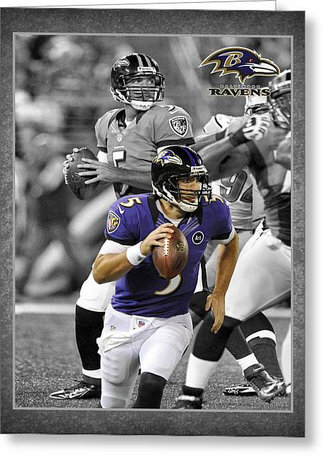 Joe Greeting Cards - Joe Flacco Ravens Greeting Card by Joe Hamilton