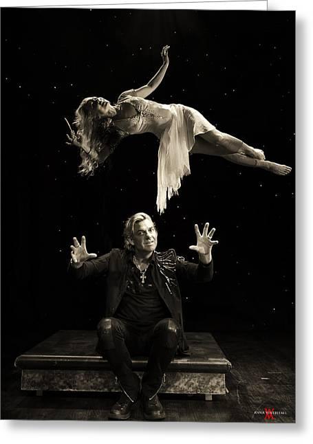 Floating Girl Greeting Cards - Joe Labero Art of Levitation Greeting Card by Anna  Vinterfall