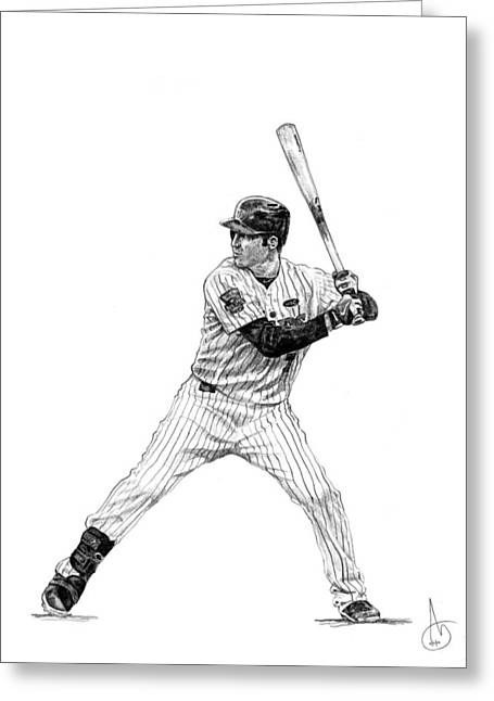 Joe Mauer Greeting Cards - Joe Mauer Greeting Card by Joshua Sooter