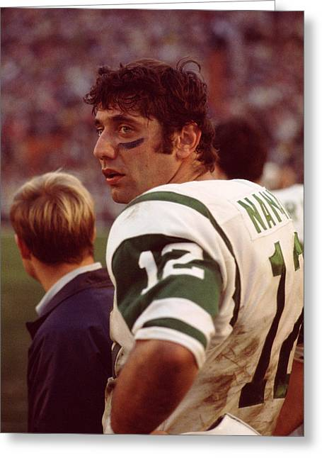 Sports Photography Greeting Cards - Joe Namath  Greeting Card by Retro Images Archive