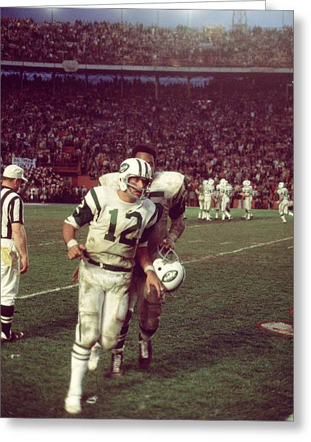Sports Photography Greeting Cards - Joe Namath Superbowl Iii Greeting Card by Retro Images Archive