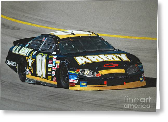 Sponsor Greeting Cards - Joe Nemechek Army Chevrolet Greeting Card by Paul Kuras