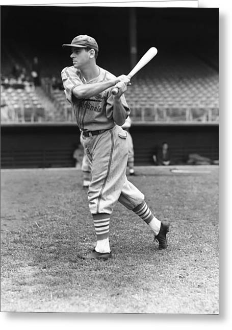 Baseball Bat Greeting Cards - Joe Orengo Greeting Card by Retro Images Archive