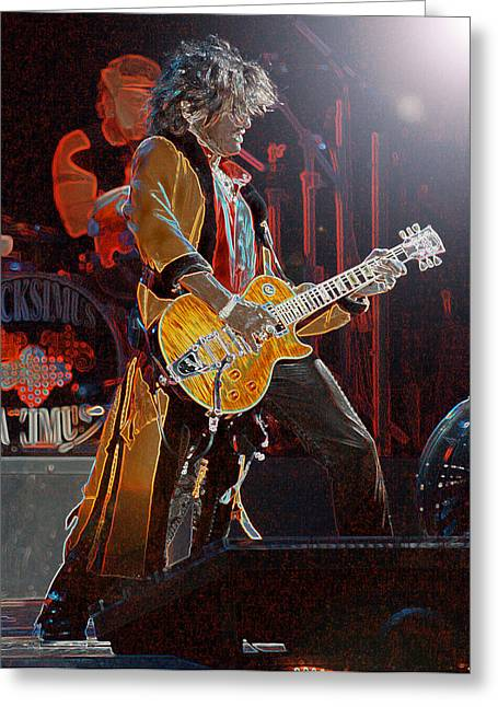 Nashville Songwriters Hall Of Fame Greeting Cards - Joe Perry - AEROSMITH Greeting Card by Don Olea