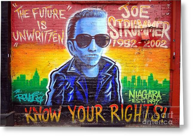 The Clash Greeting Cards - Joe Strummer Greeting Card by Ed Weidman