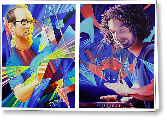 Jefferson Paintings Greeting Cards - Joel and Andy Greeting Card by Joshua Morton