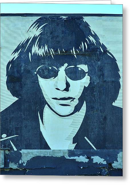 Ramones Greeting Cards - Joey Ramone Greeting Card by Allen Beatty