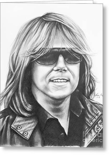 Joey Tempest Greeting Card by Lena Auxier