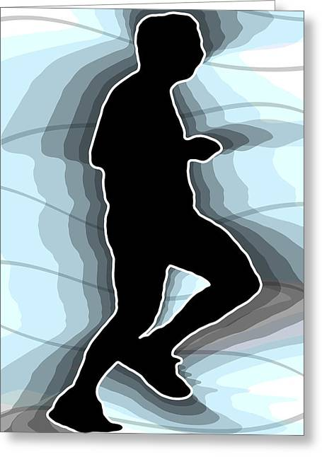 Sweat Digital Art Greeting Cards - Jog Greeting Card by Stephen Younts