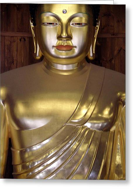 Jogyesa Buddha Greeting Card by Jean Hall