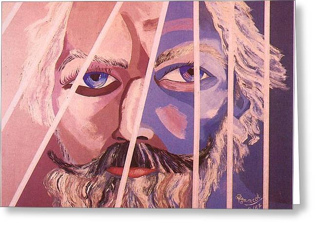 Brahms Greeting Cards - Johannes Brahms portrait Greeting Card by Preciada Azancot
