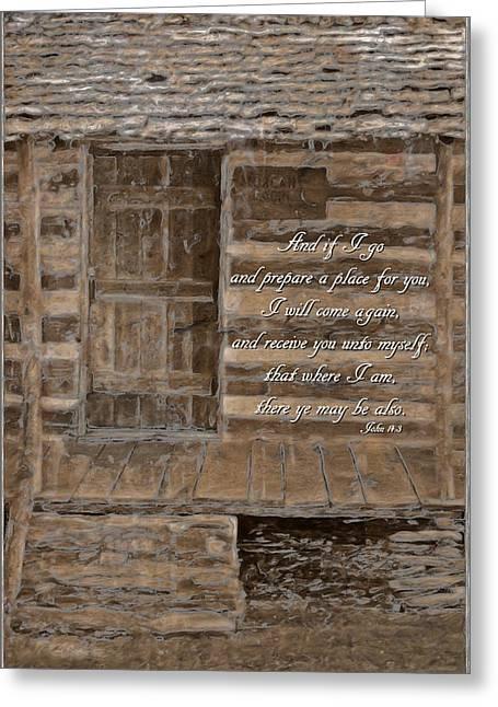 3.14 Greeting Cards - John 14 3 Greeting Card by Michelle Greene Wheeler