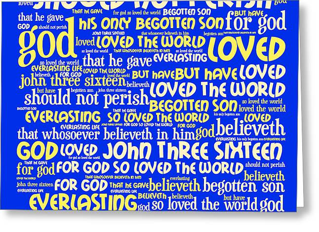 Bible Digital Art Greeting Cards - John 3-16 20130622 Greeting Card by Wingsdomain Art and Photography