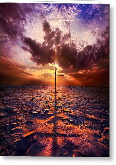 Lent Greeting Cards - John 3 16 Greeting Card by Phil Koch