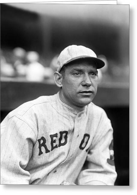 Boston Red Sox Greeting Cards - John A. Johnnie Heving Greeting Card by Retro Images Archive