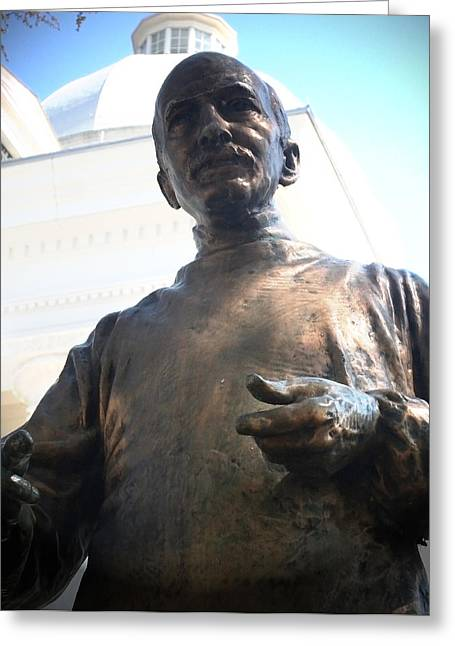 Fine Greeting Cards - John A Wyeth Statue State Capitol Greeting Card by Lesa Fine