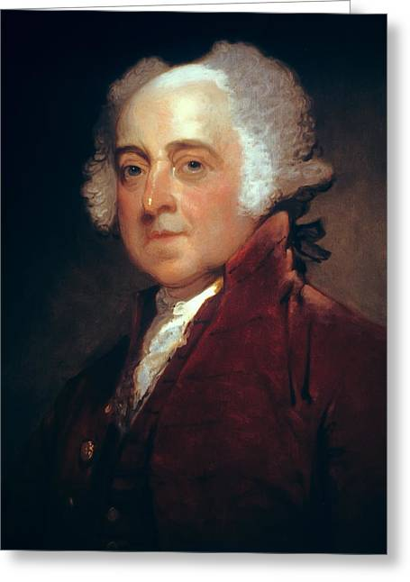 Tyrannies Greeting Cards - John Adams Greeting Card by Daniel Hagerman
