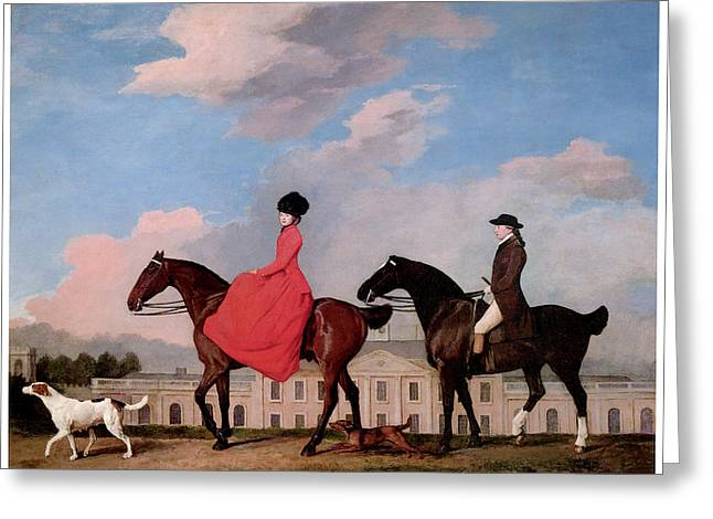 Stubbs Greeting Cards - John and Sophia Musters Riding at Colwick Hall Greeting Card by George Stubbs