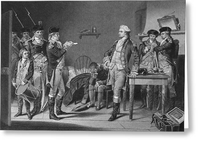 Warrant Greeting Cards - John Andre (1751-1780) Greeting Card by Granger