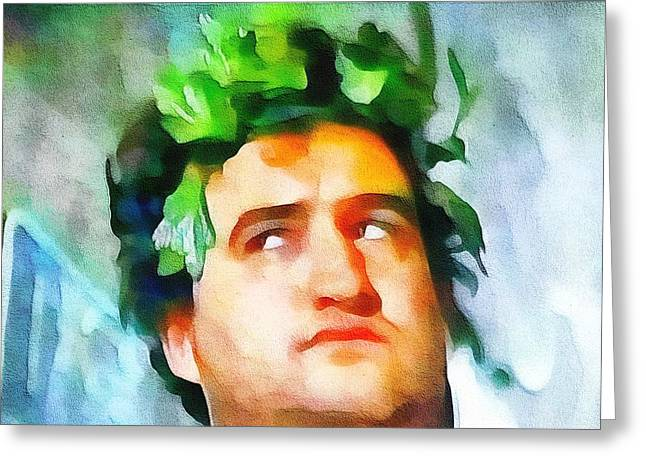 National Mixed Media Greeting Cards - John Belushi Animal House Greeting Card by Dan Sproul