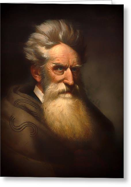 Abolitionist Paintings Greeting Cards - John Brown Greeting Card by Peter Balling