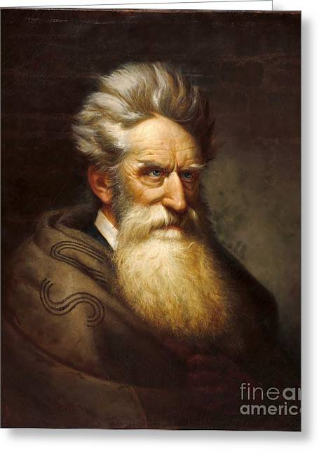 Abolitionist Paintings Greeting Cards - John Brown - Raising Holy Hell  Greeting Card by Pg Reproductions