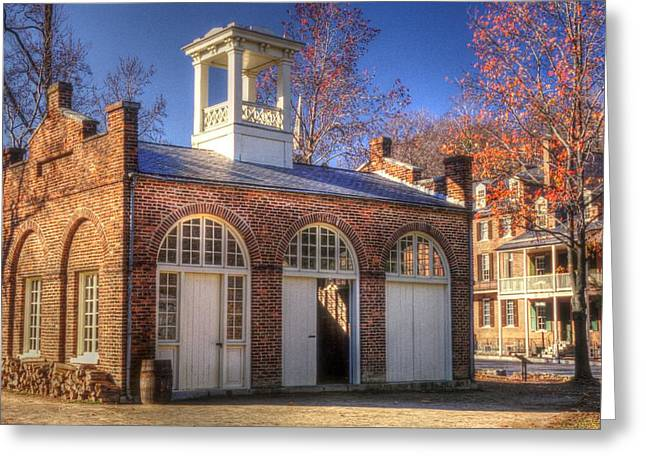 John Browns Fort - Harpers Ferry West Virginia - Modern Day Autumn Greeting Card by Michael Mazaika