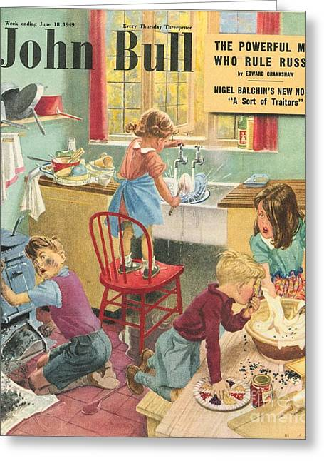 Twentieth Century Greeting Cards - John Bull 1949 1940s Uk Kitchens Greeting Card by The Advertising Archives