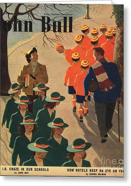 Twentieth Century Greeting Cards - John Bull 1950 1950s Uk Schools Greeting Card by The Advertising Archives