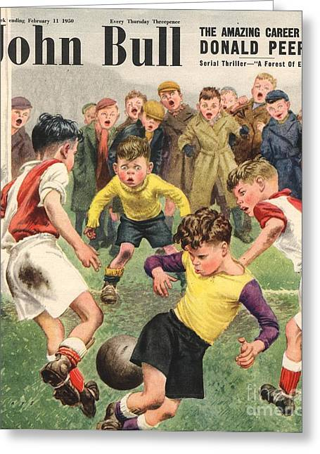 Soccer Drawings Greeting Cards - John Bull 1950s Uk Football Children Greeting Card by The Advertising Archives