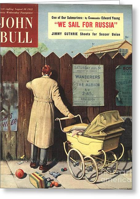 Soccer Drawings Greeting Cards - John Bull 1950s Uk Football Prams Greeting Card by The Advertising Archives