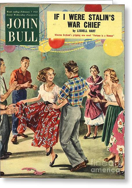 Twentieth Century Greeting Cards - John Bull 1950s Uk  Line Country Square Greeting Card by The Advertising Archives