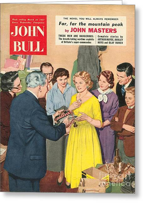 With Love Greeting Cards - John Bull 1950s Uk Love Gifts Presents Greeting Card by The Advertising Archives