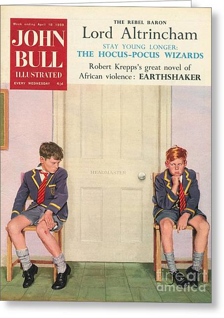 John Bull 1950s Uk Schools Magazines Greeting Card by The Advertising Archives