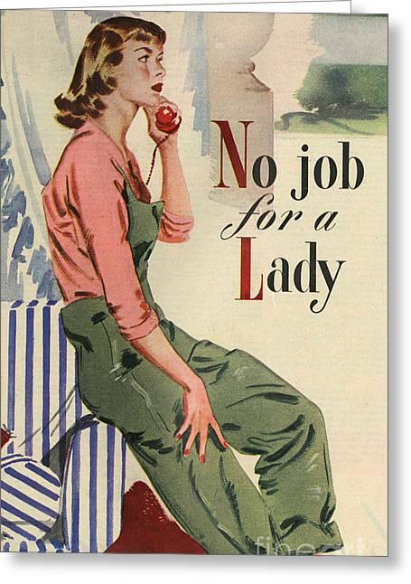 John Bull 1950s Uk Telephones Women�s Greeting Card by The Advertising Archives