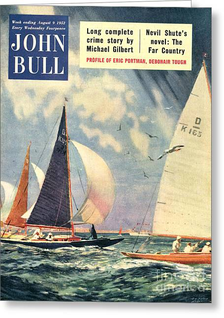 Twentieth Century Greeting Cards - John Bull 1952 1950s Uk Sailing Boats Greeting Card by The Advertising Archives