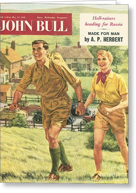 John Bull 1958 1950s Uk Holidays Hiking Greeting Card by The Advertising Archives