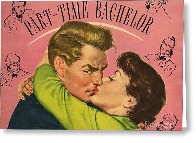 With Love Drawings Greeting Cards - John Bull  No Date 1950s Uk Womens Greeting Card by The Advertising Archives