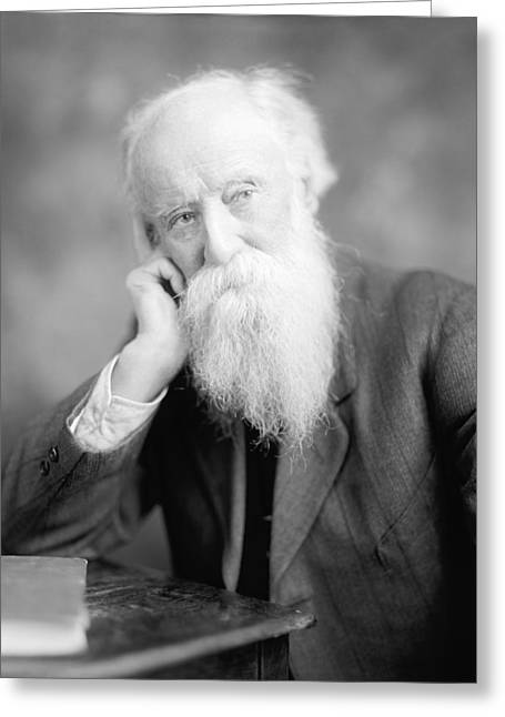 Ewing Greeting Cards - John Burroughs, US naturalist Greeting Card by Science Photo Library