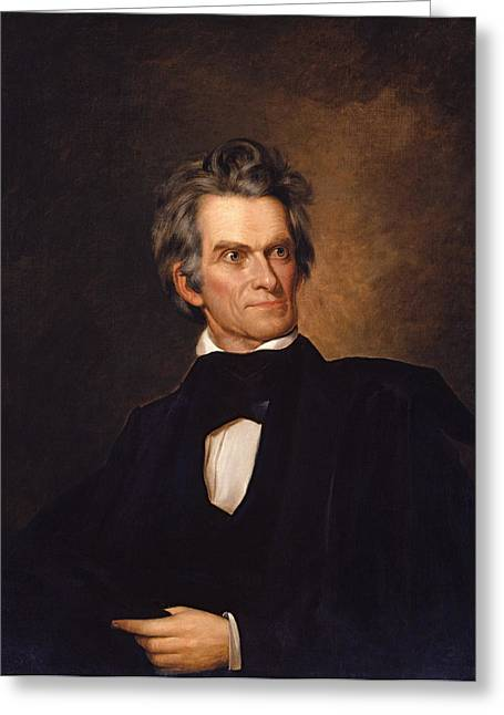 Vice Presidents Greeting Cards - John C Calhoun  Greeting Card by War Is Hell Store
