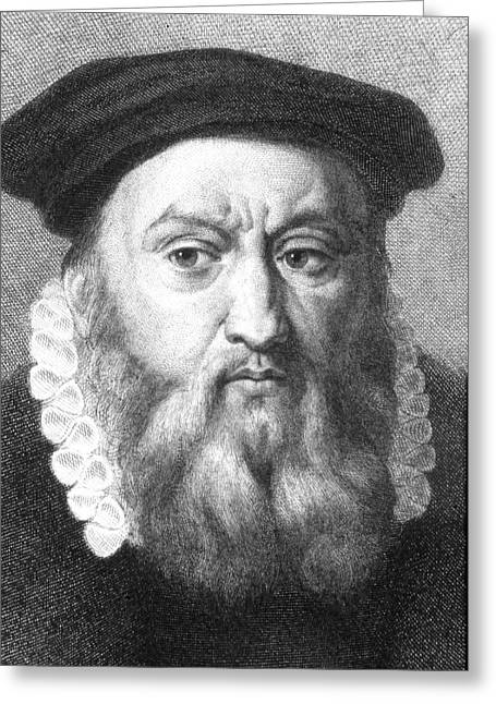 John Calvin Greeting Card by Collection Abecasis