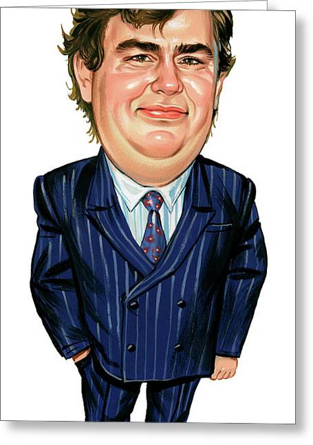 Television Paintings Greeting Cards - John Candy Greeting Card by Art