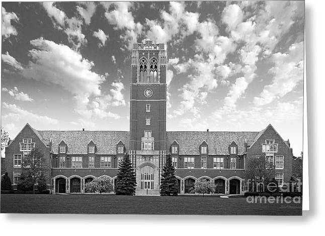 Ohs Greeting Cards - John Carroll University Administration Building Greeting Card by University Icons