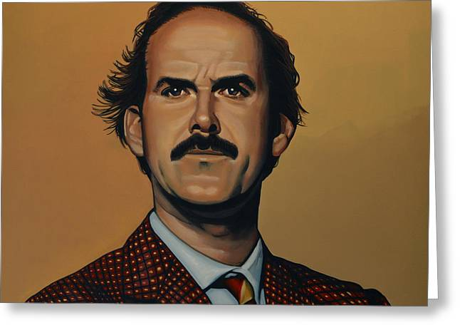 Writer Greeting Cards - John Cleese Greeting Card by Paul  Meijering