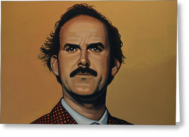 Writers Greeting Cards - John Cleese Greeting Card by Paul Meijering