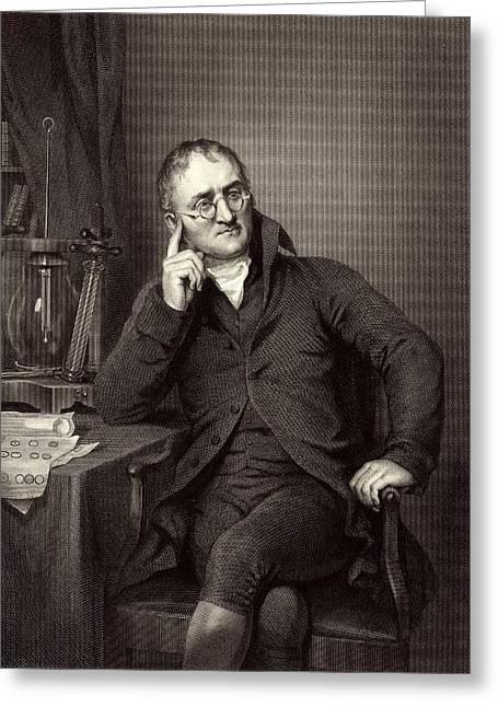Wove Greeting Cards - John Dalton, British chemist Greeting Card by Science Photo Library